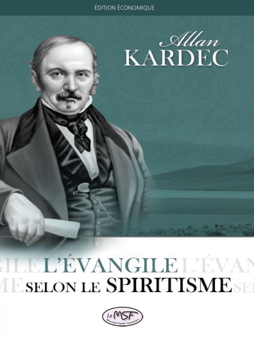 l'evangile selon le spiritisme - couverture